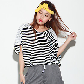 TS Striped V-neck Top