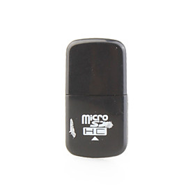 Mini USB Micro SDHC Memory Card Reader (Black)