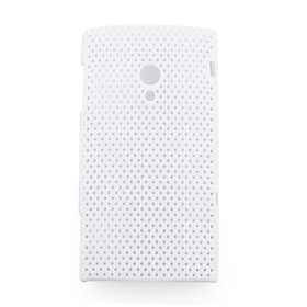 Net sharp protective cell phone case for Sony Ericsson X10(white)