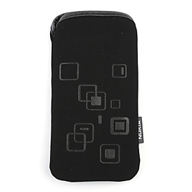 Soft Pouch Velvet Protective Carry Bag Cover For Nokia N8(black)