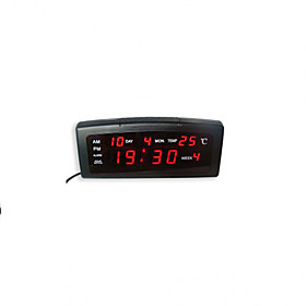 Red LED Digital Alarm Clock Calendar Thermometer