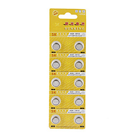 AG8 391A 1.55V High Capacity Alkaline Button Cell Batteries (10-pack)