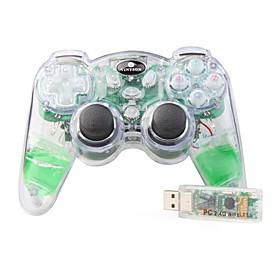 VINYSON U-801 2.4G USB AQUA Flash PC Wireless Joypad(Green)