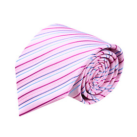 Pink and Blue Stripe Microfibre Tie