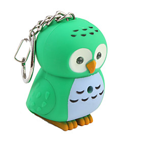 Owl Keychain with LED Flashlight and Sound Effects