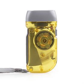3 LED Hand Pressing Flashlight, Yellow