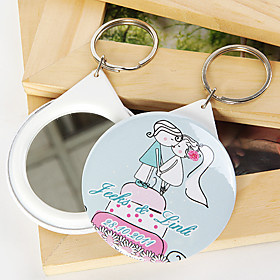 Personalized Mirror Key Ring - Kissing (set of 12)