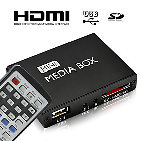 HD Mini Multi-Media Player with Remote Control, HDMI Output