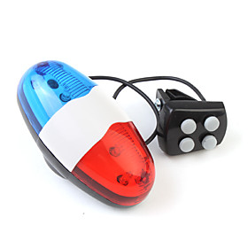 Electronic 4 Sounds Bicycle Bike Bell Horn 6LED Light