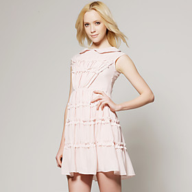 TS Nude Embroidered Summer Dress