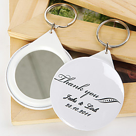 Personalized Mirror Key Ring - Thank You (set of 12)