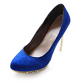 Leatherette Upper Stiletto Heel Pumps Sparkling Glitter Party/ Evening Shoes.More Colors Available