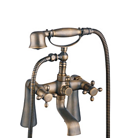 Centerset Antique Brass Tub Faucet