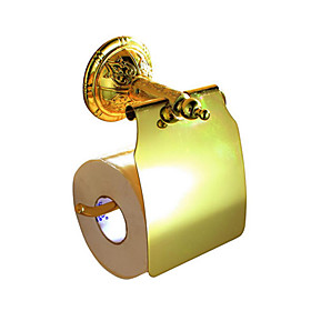 Toilettenpapier-Rack, Messing, Gold-Finish