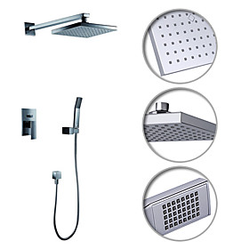 Contemporary Shower Faucet with 8 inch Shower head   Hand Shower