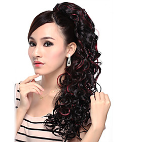 Extra Long High Quality Synthetic Silk Straight Ponytail-Four colors