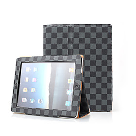 Grey 2 in 1 Protective Leather Case With Lattice For iPad