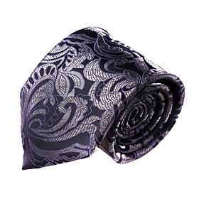 Dark Purple Paisley Microfibre Tie