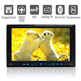 Reproductor DVD 7 pulgadas   GPS   IPOD   Bluetooth