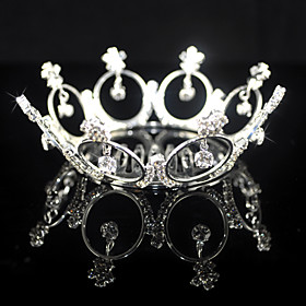 Beautiful Alloy With Rhinestones Wedding Tiara/ Headpiece
