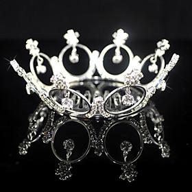 Beautiful Alloy With Rhinestones Wedding Tiara/ Headpiece