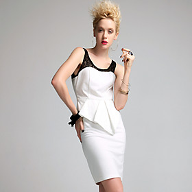 TS Vintage Style Peplum Sheath Dress