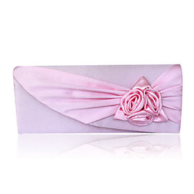 Gorgeous Satin/ Silk Shell With Applique Evening Handbags/ Clutches More Colors Available