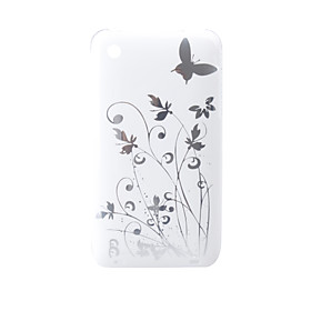 Cartoon Transparent Edge Protective PVC Case Cover for iPhone 3G/3GS (White)