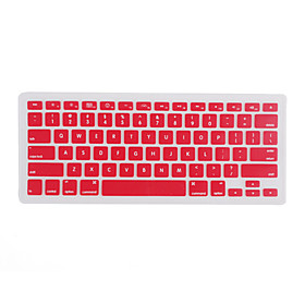 Silicon Waterproof Dustproof QWERTY Keyboard Cover for Mac Book - Red