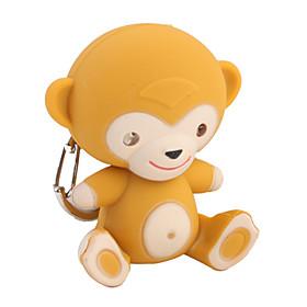 Monkey Keychain with LED Flashlight and Sound Effects