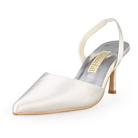 satinado superior zapatillas abiertas del talón de aguja zapatos de boda más colores disponibles