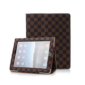 Brown 2 in 1 Protective Leather Case With Lattice For iPad