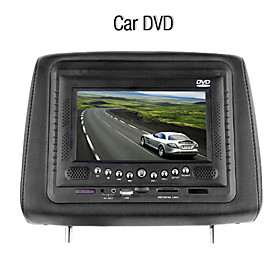 7 Inch Headrest Car DVD Player with FM Transimitter Game System USB/SD
