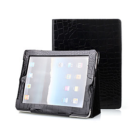 Black 2 in 1 Protective Crocodile Leather Case For iPad