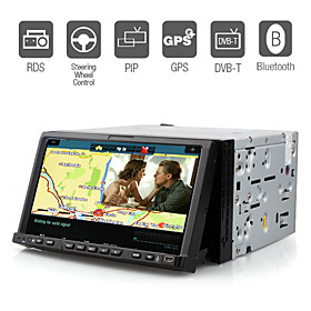 7 Inch Digital Screen Car DVD Player with GPS Bluetooth DVB-T RDS