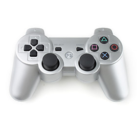 Rechargeable USB DualShock 3 Wireless Controller for PS3 (Silver)