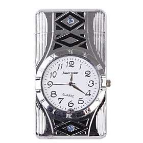 H-26 Watch Shape With Rotating Lights Metal Gas Lighter