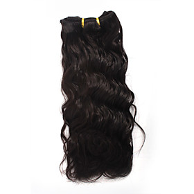 "12"" 100% Indian Remy Wavy Hair Clips Hair Extensons"