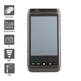 FN8 - Four SIM 3.8 Inch Touch Screen Cell Phone (WIFI, Dual Camera, GPS, TV, FM)