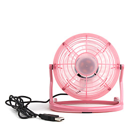 4inch USB Mini Fan With Plastic Blade Ulitra-low Power-wind Volume Red