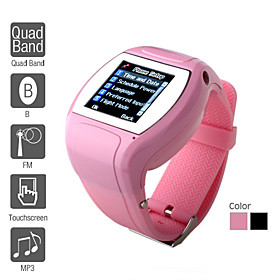 W180 - 1.5 Inch Watch Cell Phone (Quadband, Bluetooth, FM, MP3 MP4 Player)