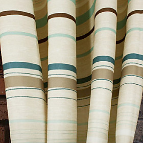 Beige Stripe Window Curtain (Pair)