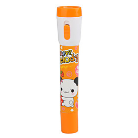Cute Cartoon 2 in 1 Ball Pen and LED Flashlight(Orange)