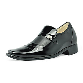mocasines de cuero de tacón bajo / alto aumento de zapatos formales / de la boda para hombres