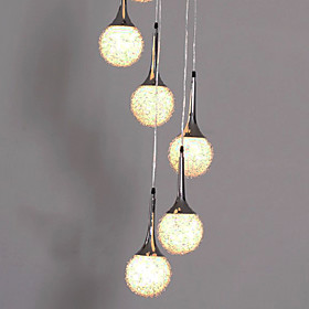 240W Pendant Light with 6 Lights in Globe Shape