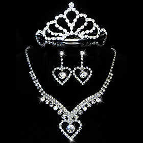 Beautiful Rhinestones Wedding Jewelry Set,Including Necklace,Earrings And Tiara