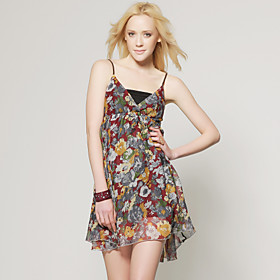 Camisole Printed Dress / Women's Dresses (FF-C-CC1279003)