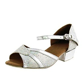 Sparkling Glitter Upper Dance Shoes Ballroom Latin Shoes for Women and Kids