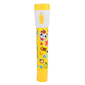 Cute Cartoon 2 in 1 Ball Pen and LED Flashlight(Yellow)