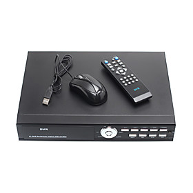 4 Channel DVR Security System (H.264, Motion Activated Recording)
